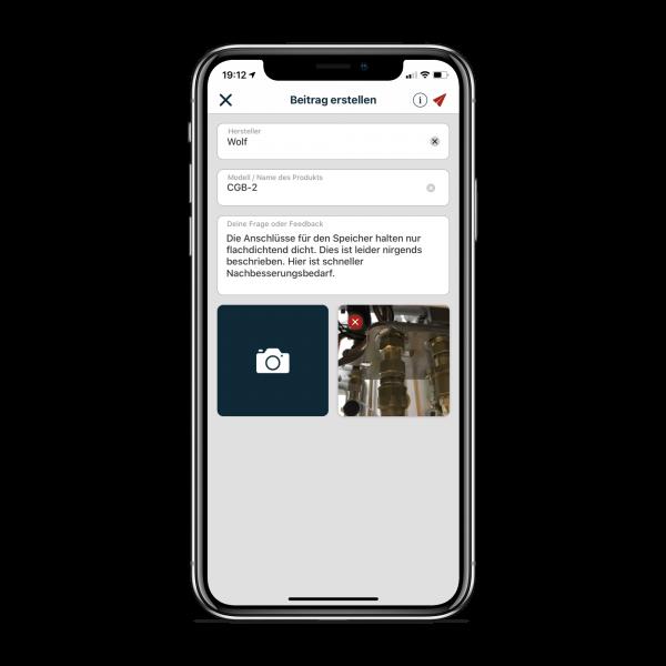 Evolute App: einfache Eingabemaske
