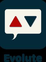 Evolute Logo Button Schrift übereinander