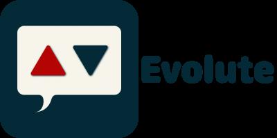 Evolute Logo Button Schrift nebeneinander