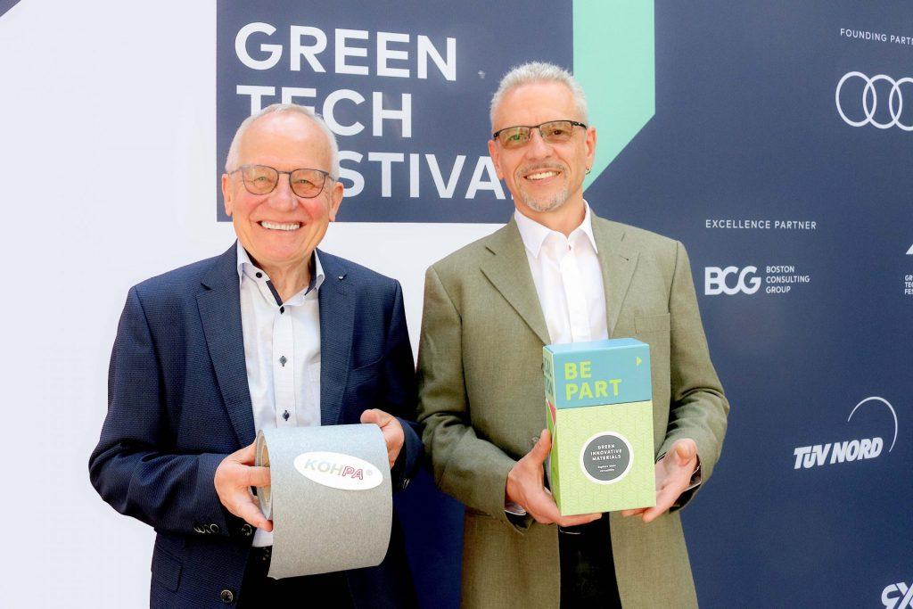 Hier die beiden KOHPA Gründer beim Green Tech Festival 2021