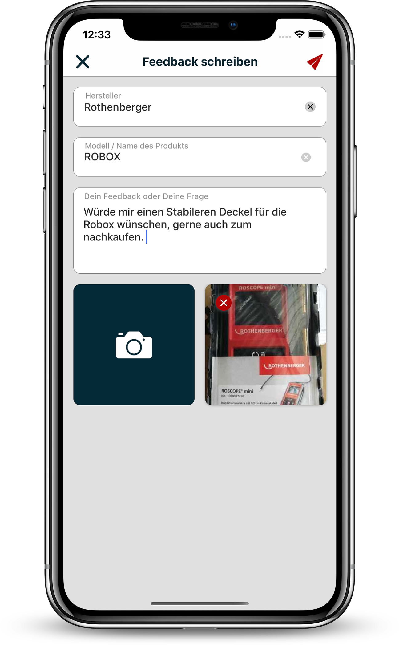 Evolute App Feedback Geben